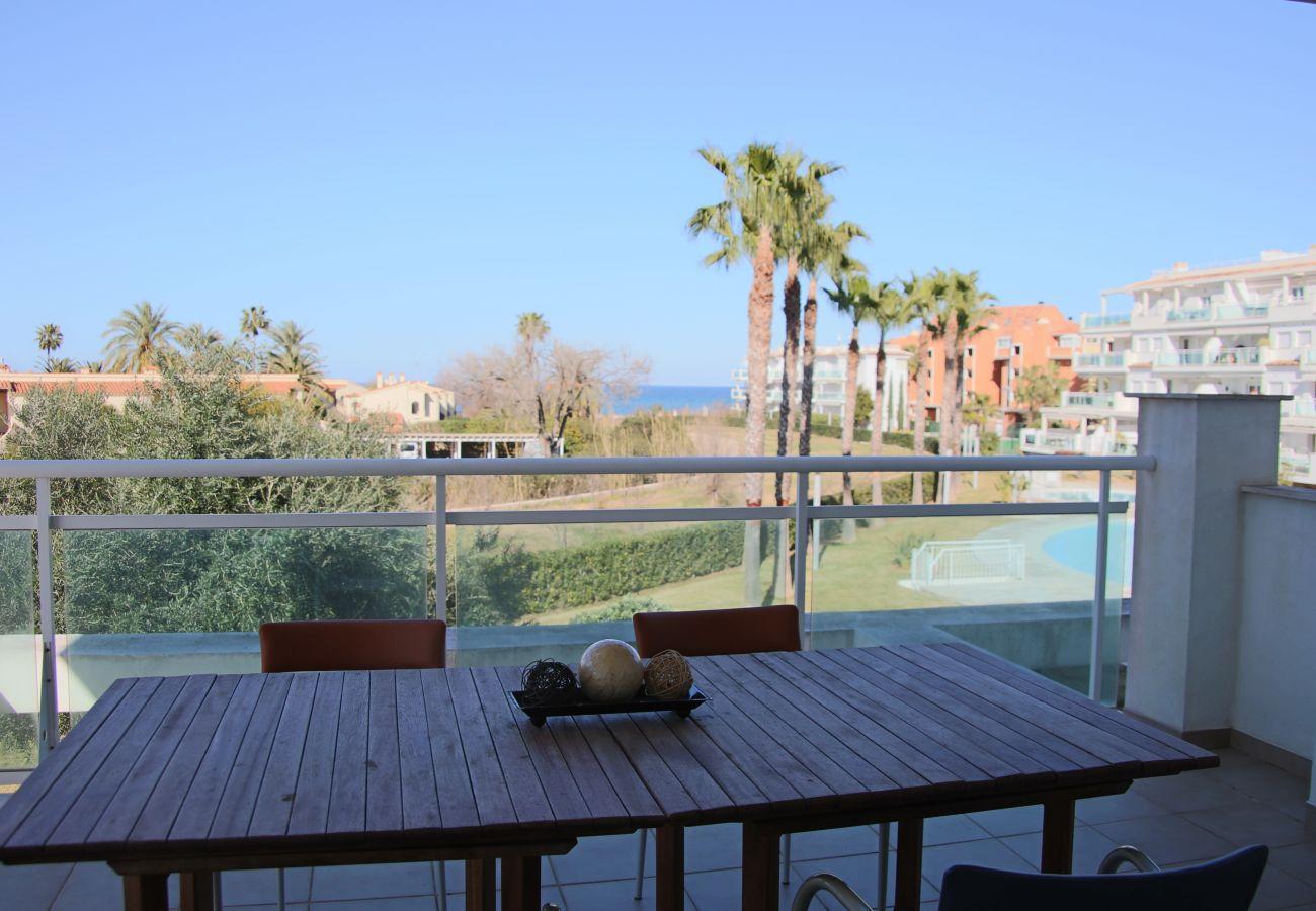 Ferienwohnung in Denia - LES PORTELLES Nº3 1ª Línea Playa